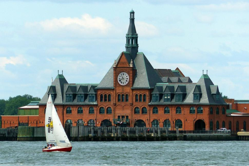 Download Free Stock Photo of Central Railroad of New Jersey Terminal