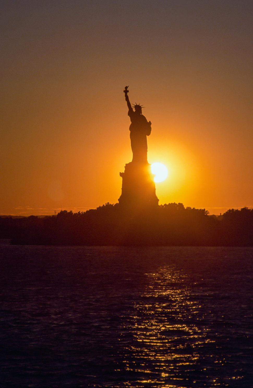 Download Free Stock Photo of Statue Of Liberty At Sunrise