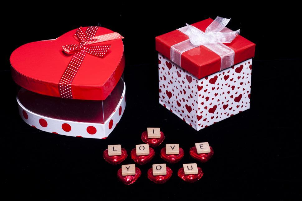 Download Free Stock HD Photo of Gift boxes with I Love You Online
