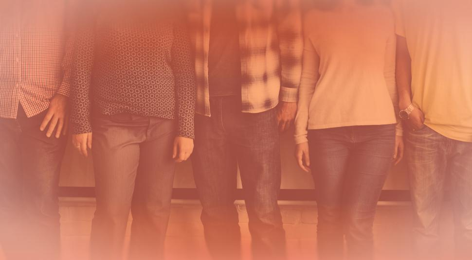 Download Free Stock Photo of Four Friends - Colorized Faded Looks