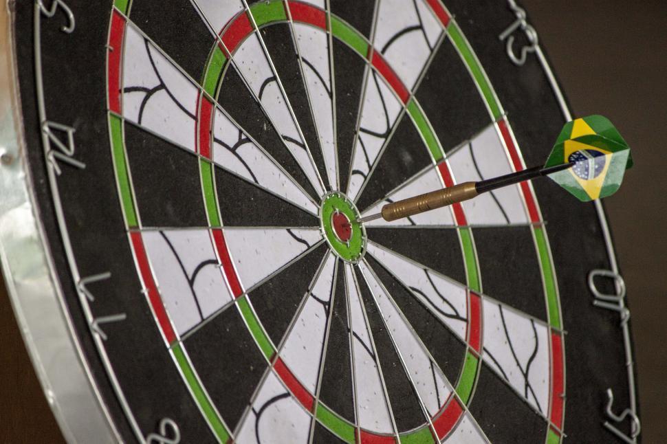 Download Free Stock HD Photo of Dart hitting target Online