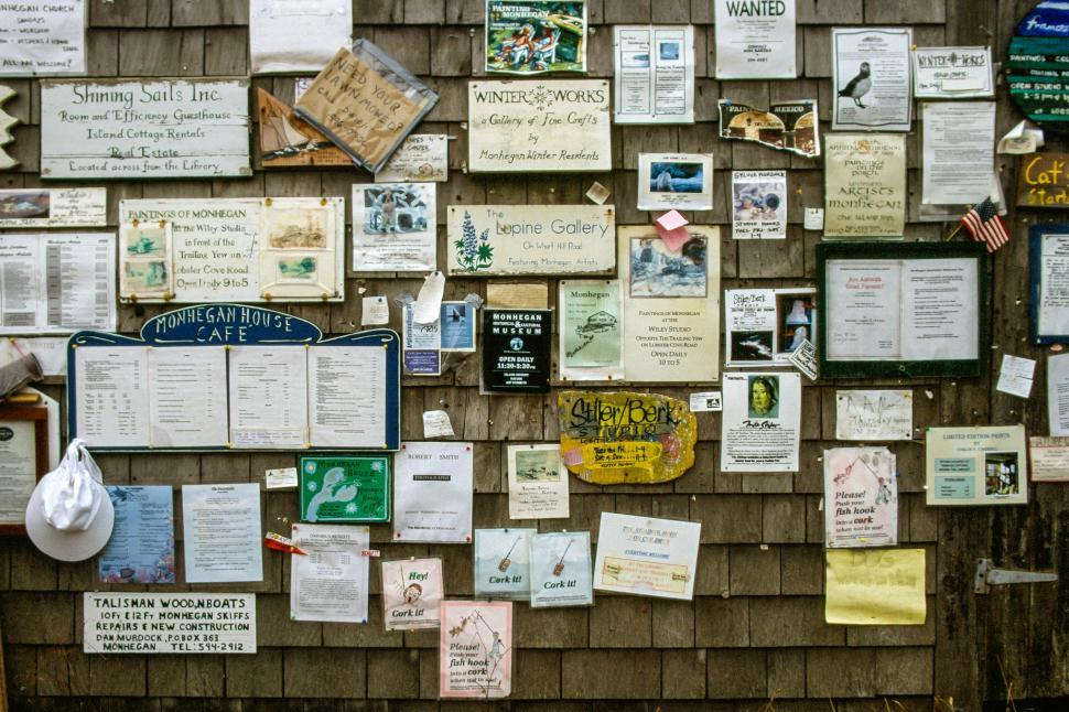 Download Free Stock Photo of Papers and local postings