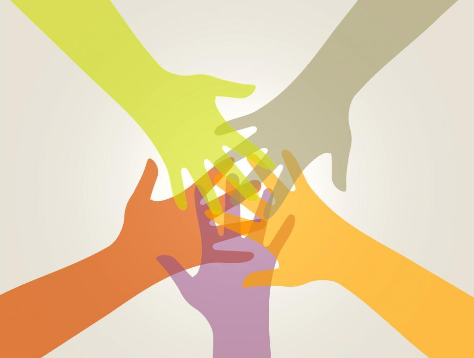 Download Free Stock Photo of Support and Union - Partnership Concept with Hands