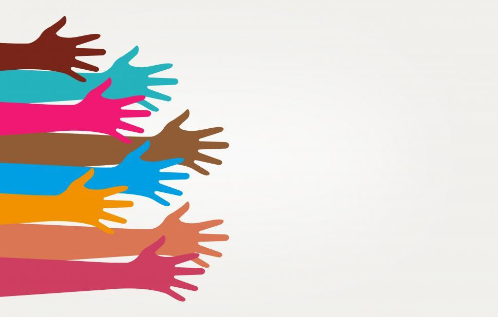 Download Free Stock Photo of Teamwork and Partnership - Illustration with Copyspace