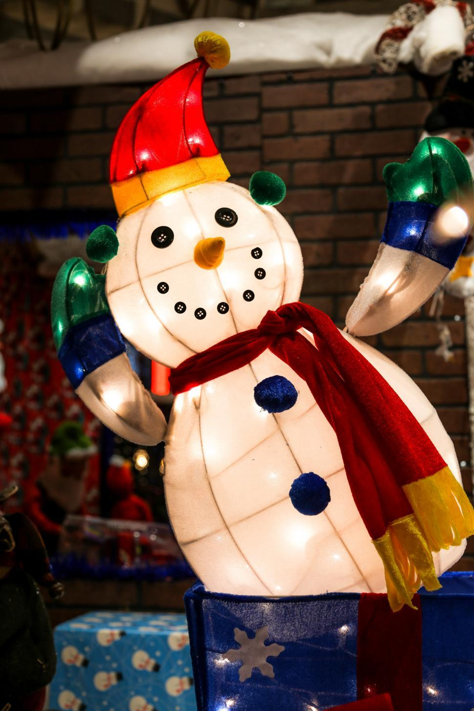 Download Free Stock HD Photo of Cheerful Holiday Snowman Online