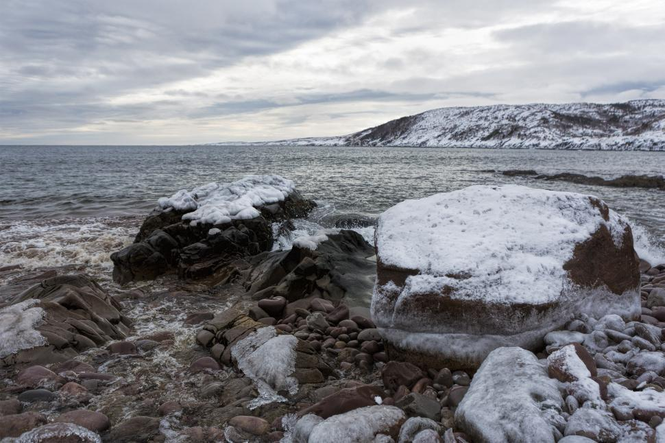 Download Free Stock HD Photo of Winter seascape Online