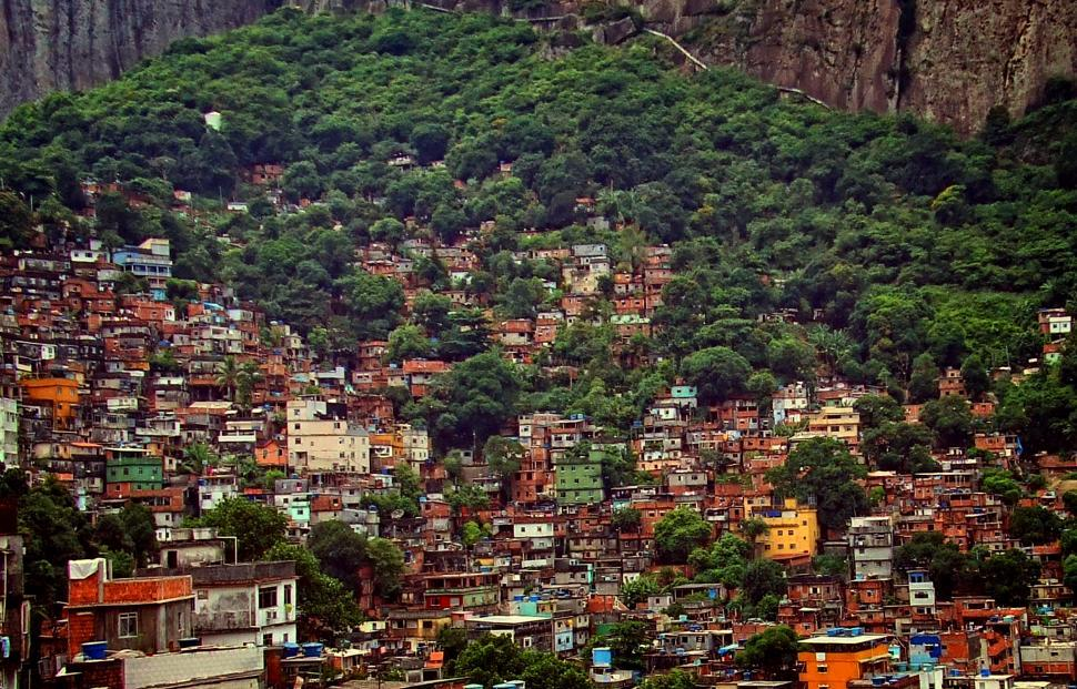 Download Free Stock Photo of View Over Rocinha - The Largest Slum in Latin America - Rio de J