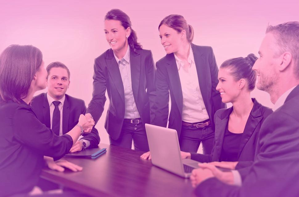 Download Free Stock Photo of Business Meeting - Colorized Hazy Looks