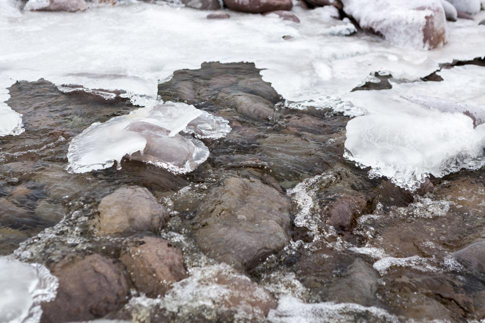 Download Free Stock Photo of Ice in river