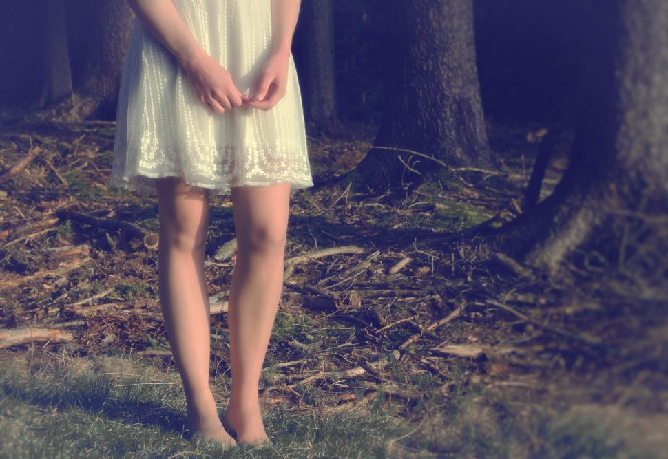 Download Free Stock HD Photo of Close Up of Girls Legs in the Forest Online