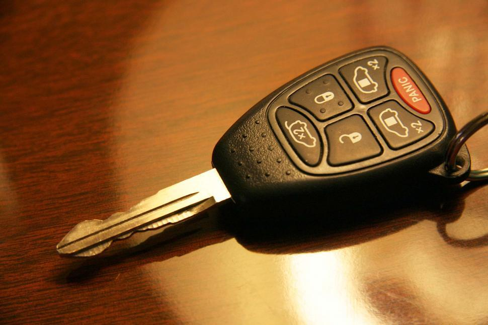 Download Free Stock Photo of travel remote control buttons car keys lock unlock open panic automobile keyless entry