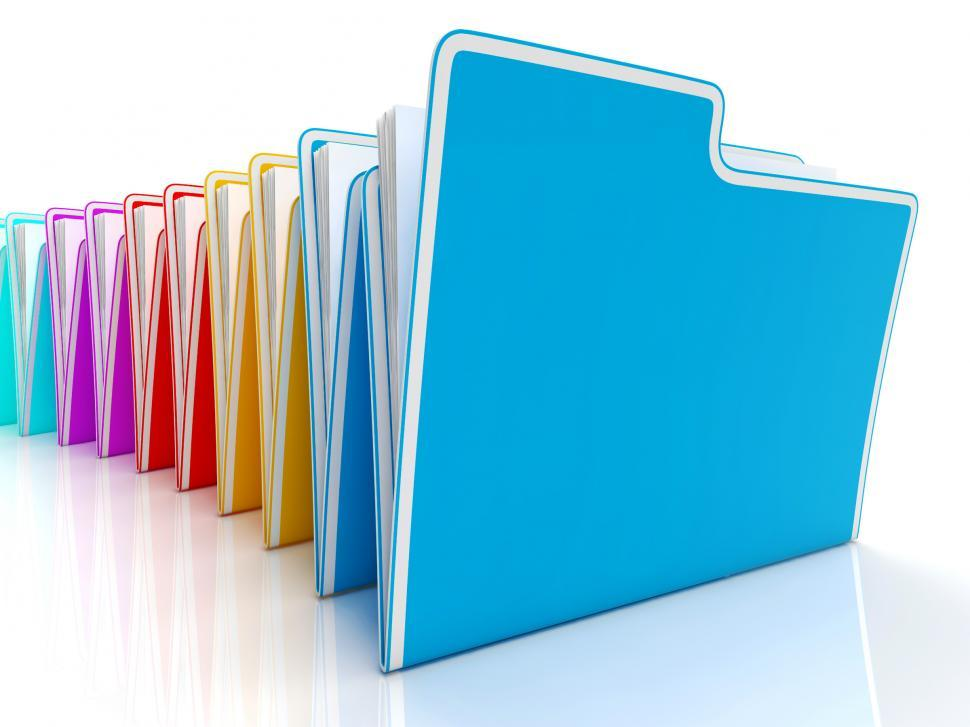 Download Free Stock HD Photo of Folders Showing Organizing And Reports Online