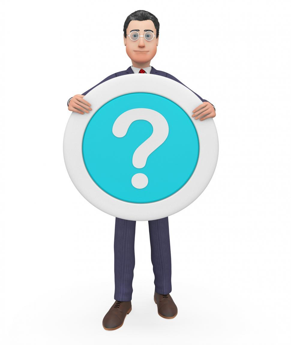 Download Free Stock HD Photo of Question Mark Represents Not Sure And Business 3d Rendering Online