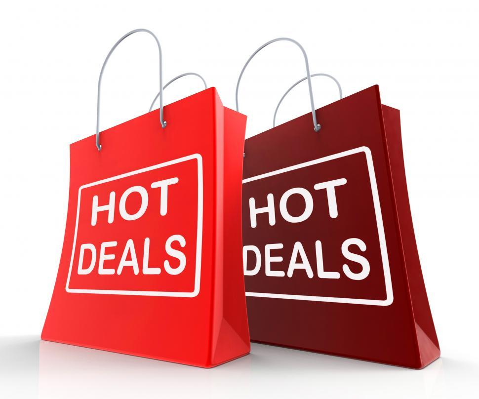 Download Free Stock HD Photo of Hot Deals Bags Show Shopping  Discounts and Bargains Online