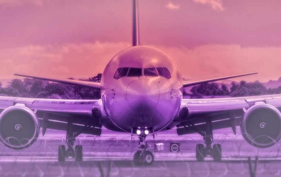 Download Free Stock Photo of Airplane - Colorized