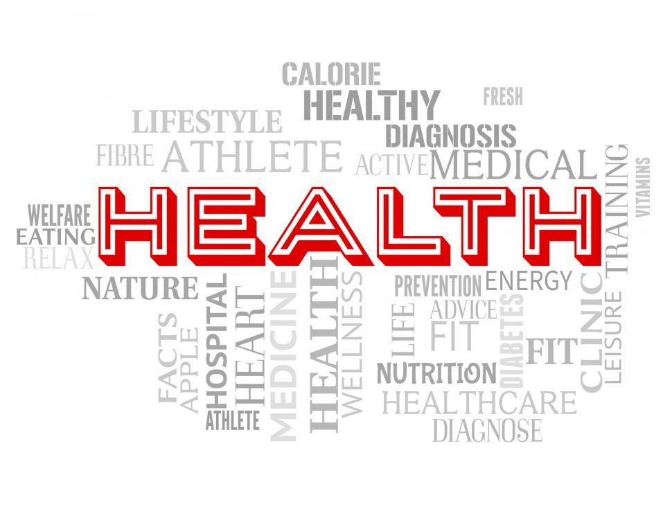 Download Free Stock HD Photo of Health Words Represents Hospital Healthcare And Doctor Online