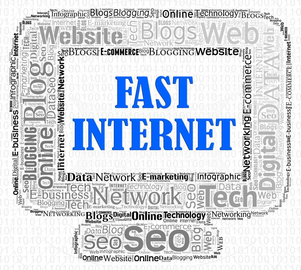 Download Free Stock HD Photo of Fast Internet Indicates High Speed And Computers Online