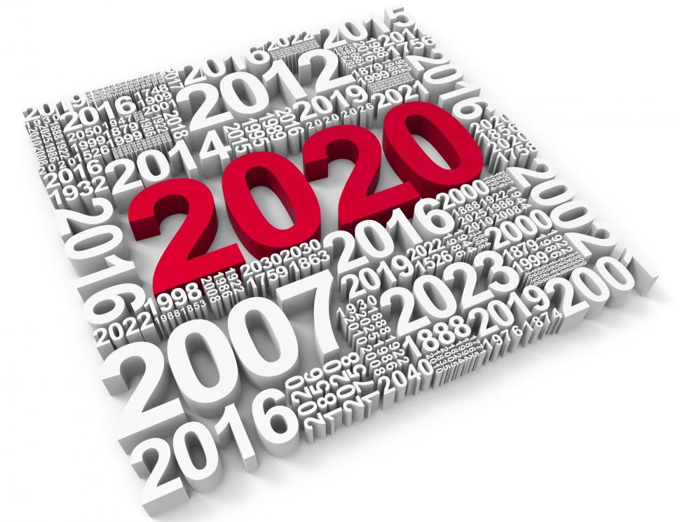Download Free Stock HD Photo of Two Thousand Twenty Shows New Year 2020 3d Rendering Online
