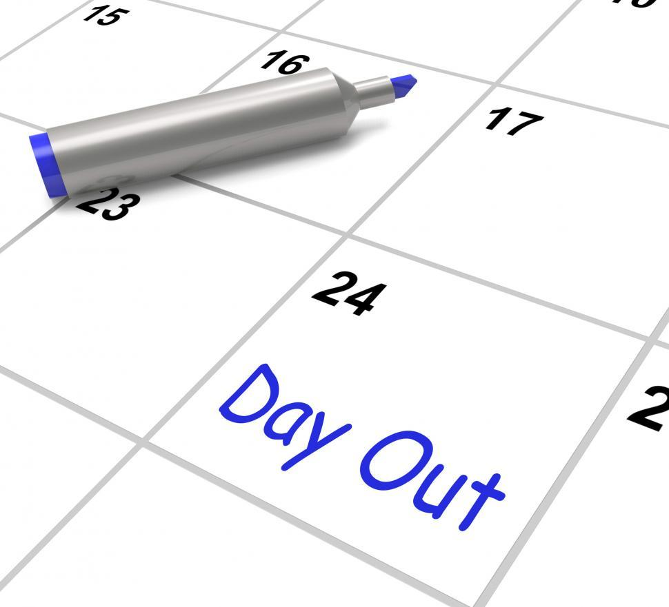 Download Free Stock HD Photo of Day Out Calendar Means Excursion Trip Or Visiting Online