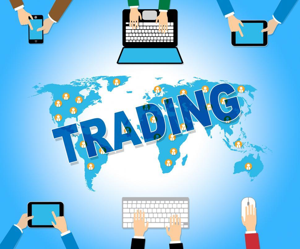 Download Free Stock HD Photo of Online Trading Indicates Web Site And Commerce Online