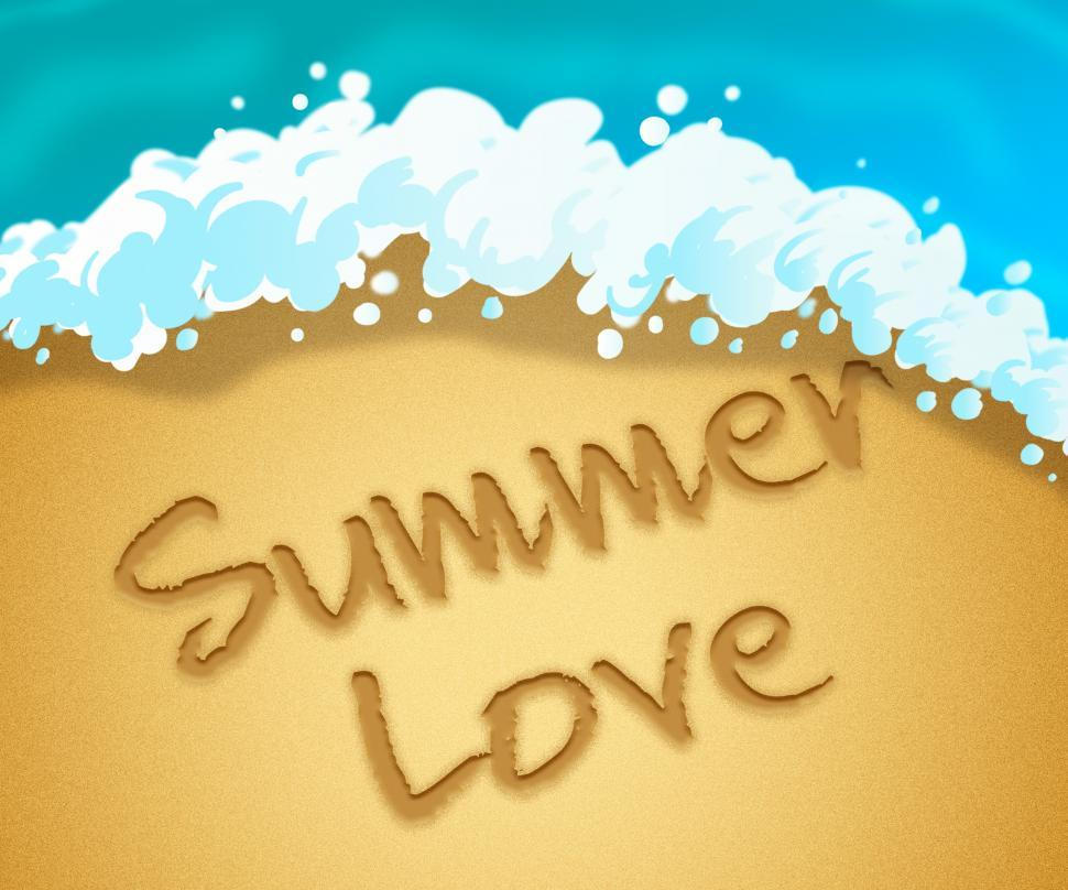 Download Free Stock HD Photo of Summer Love Means Tropical Beaches And Passion Online
