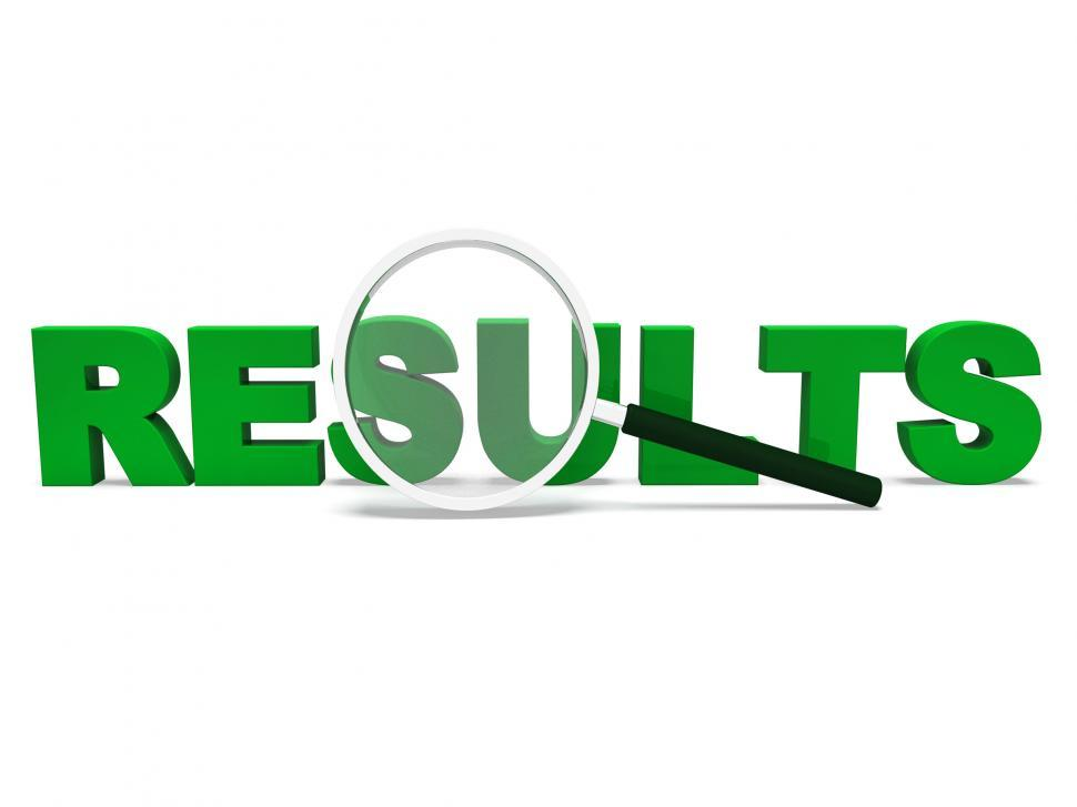 Download Free Stock HD Photo of Results Word Shows Score Result Or Achievement Online