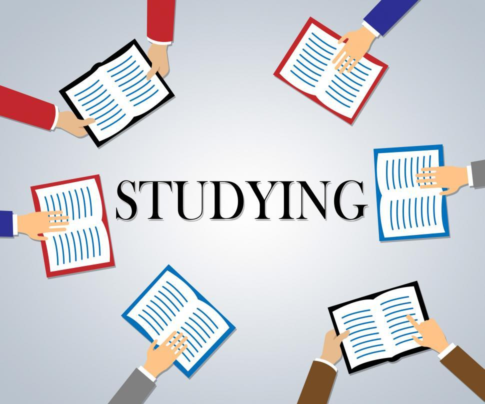 Download Free Stock Photo of Studying Books Represents Knowledge Literature And Education