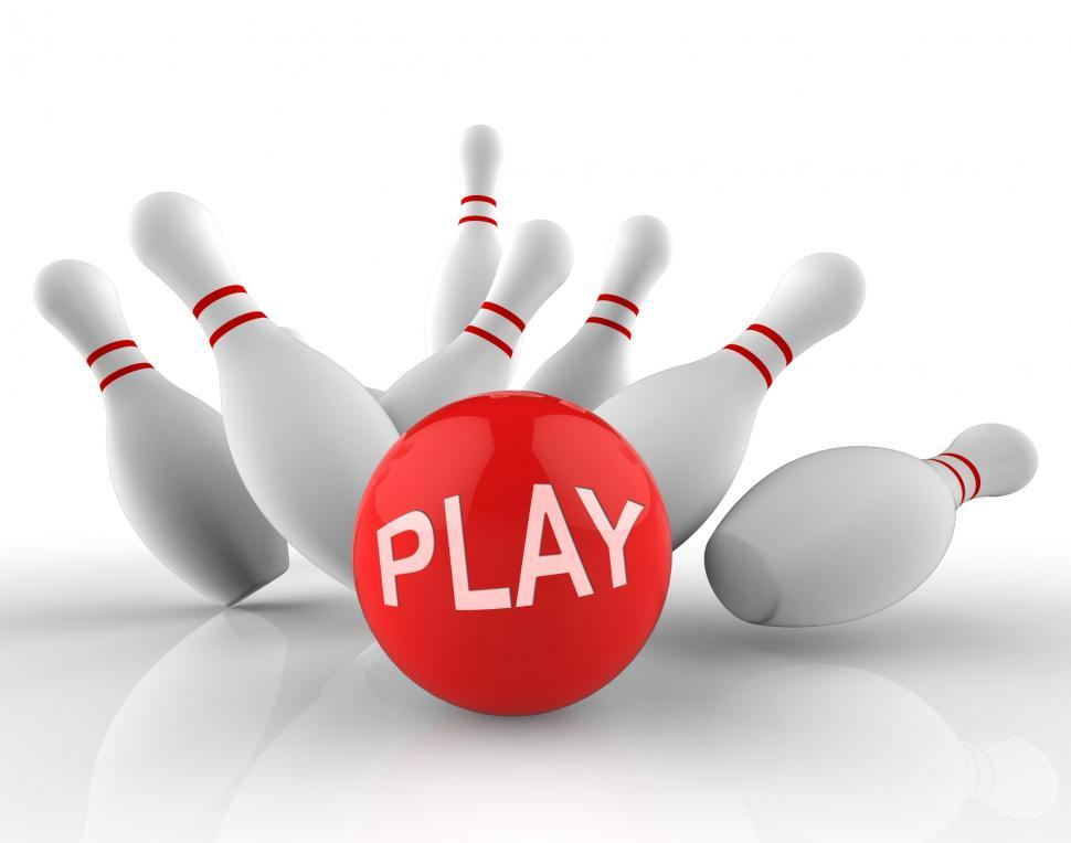 Download Free Stock Photo of Play Bowling Indicates Free Time And Activity 3d Rendering