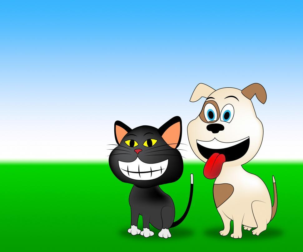 Download Free Stock Photo of Happy Pets Shows Domestic Animal And Countryside