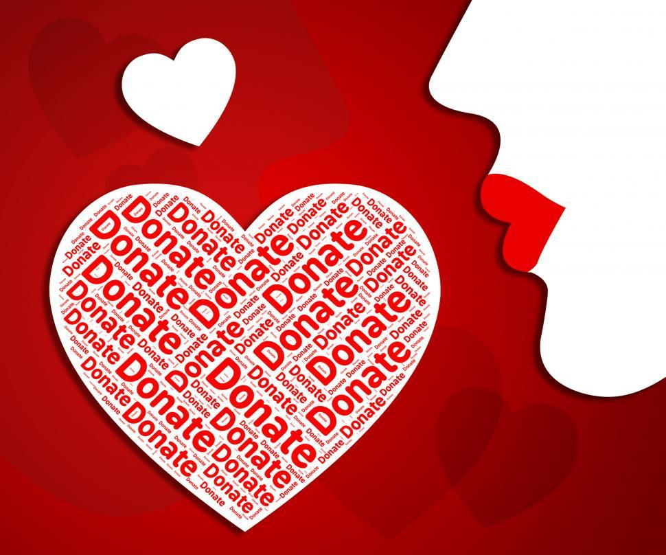 Download Free Stock Photo of Donate Heart Represents In Love And Charitable