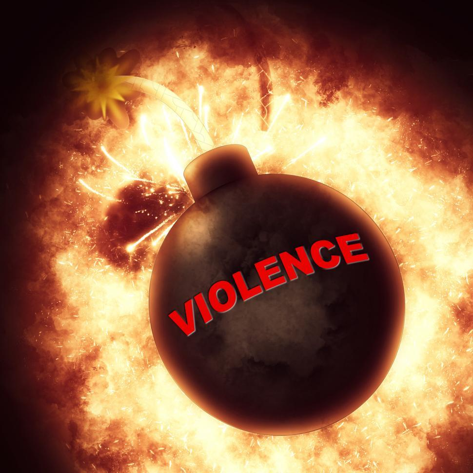 Download Free Stock HD Photo of Violence Bomb Represents Brutishness Violent And Blast Online