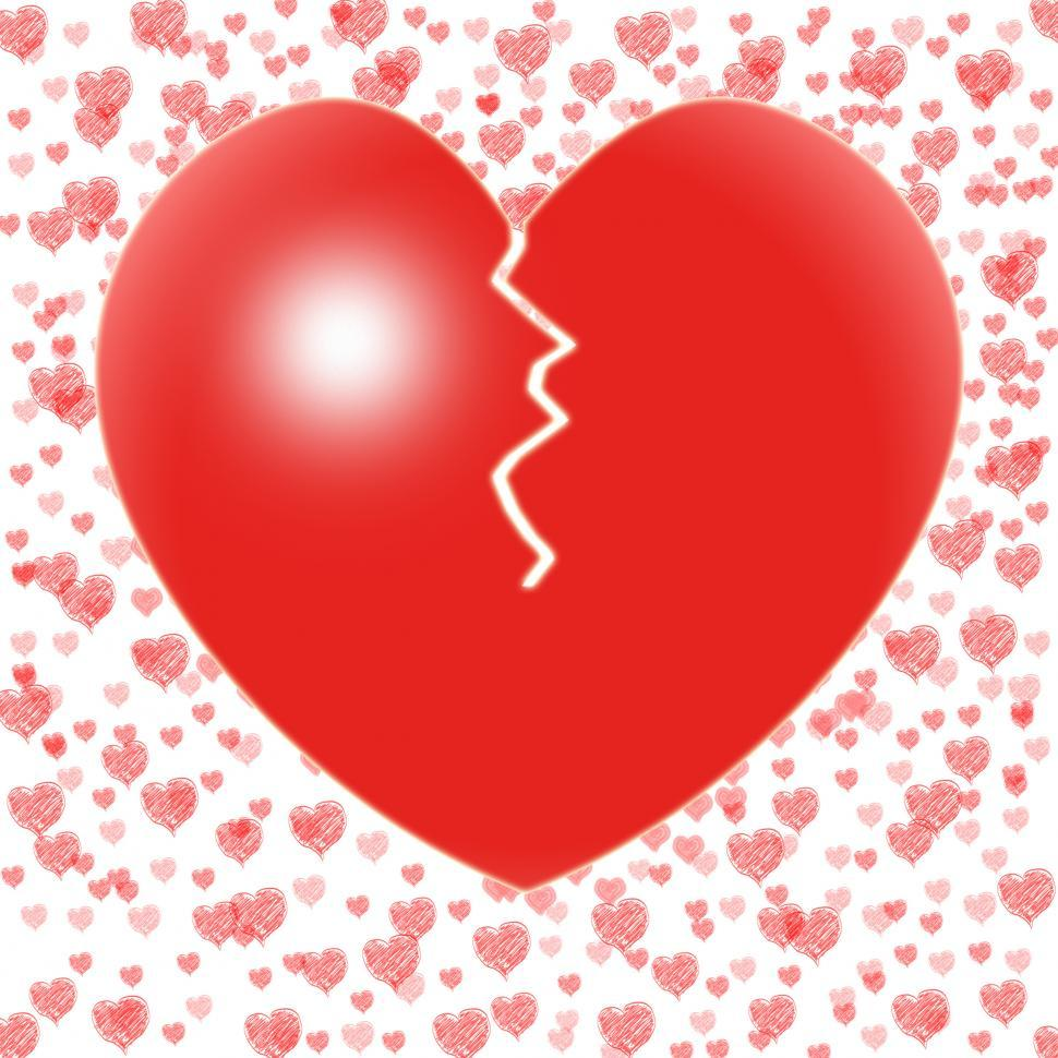 Download Free Stock HD Photo of Broken Heart Means Couple Trouble Or Relationship Crisis Online