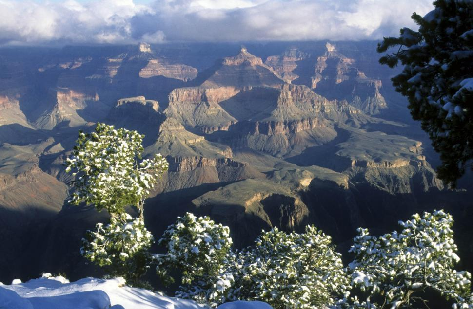 Download Free Stock Photo of grand canyon in winter