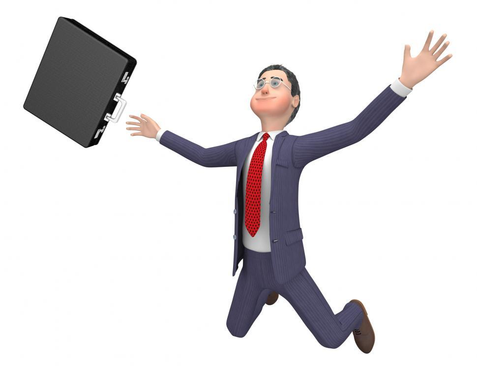 Download Free Stock Photo of Character Businessman Indicates Render Accident And Fell 3d Rend