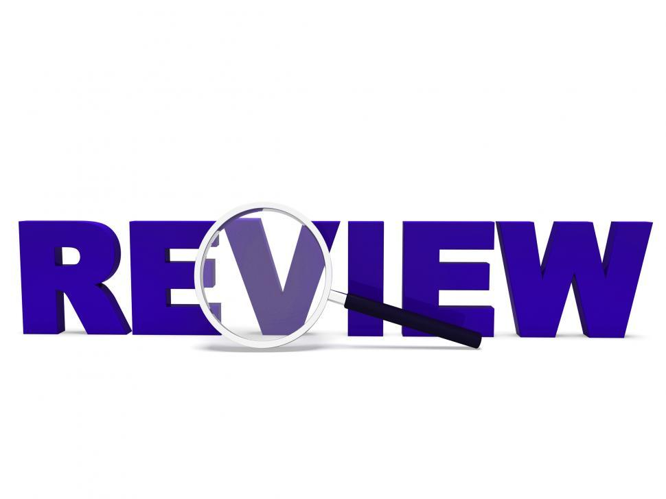 Download Free Stock Photo of Review Word Shows Reviewing Evaluating Evaluate And Reviews
