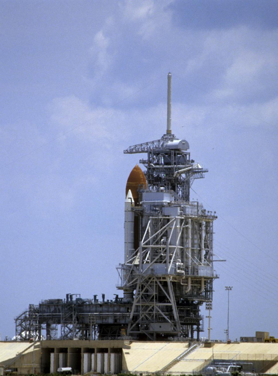 Download Free Stock Photo of space shuttle on the pad