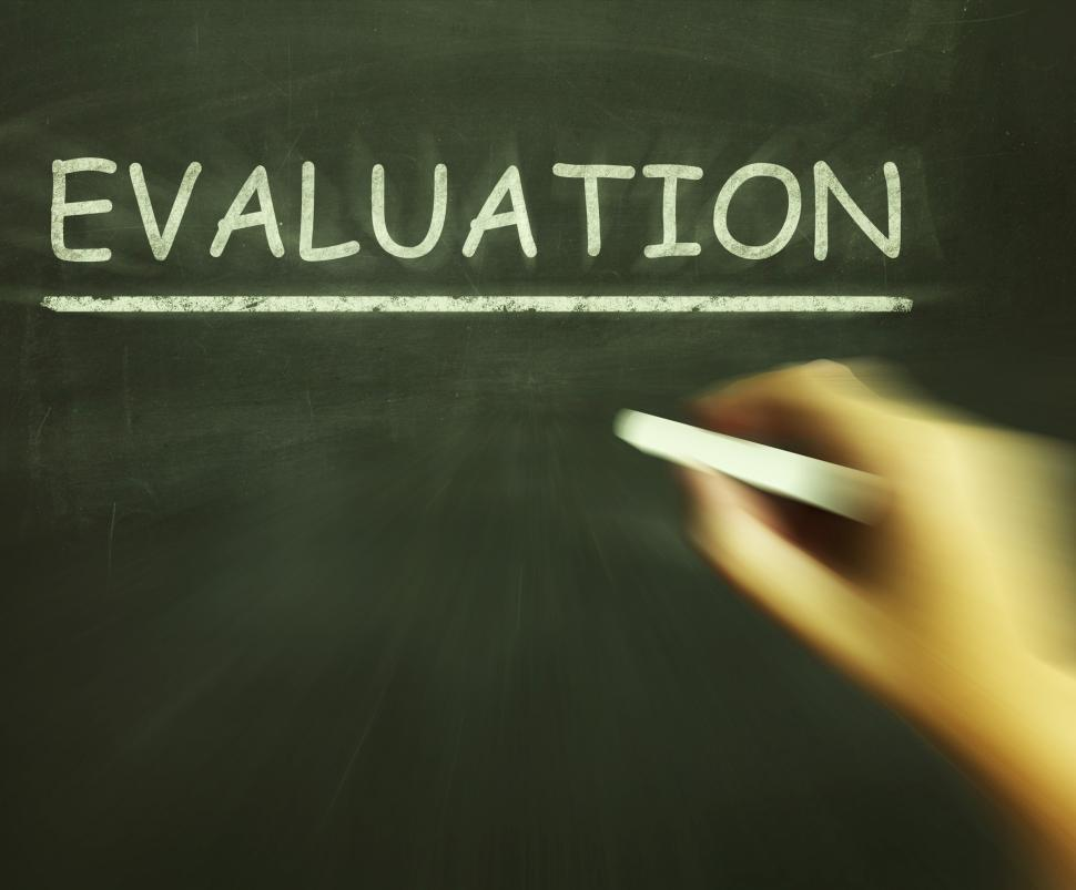 Download Free Stock Photo of Evaluation Chalk Means Judgement Interpretation And Opinion