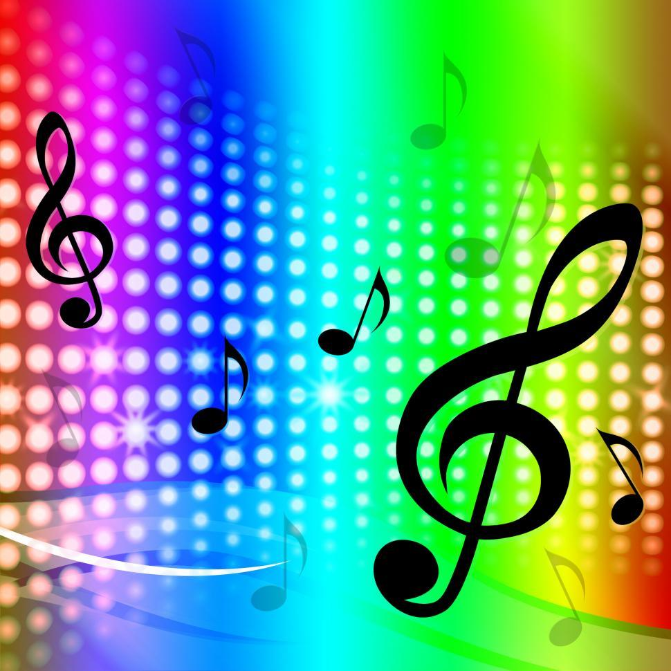 Download Free Stock HD Photo of Treble Clef Background Means Artistic Melodies And Sounds Online