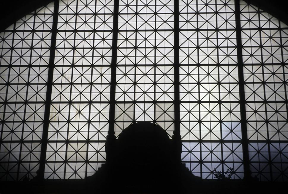 Download Free Stock Photo of dark patterns in window
