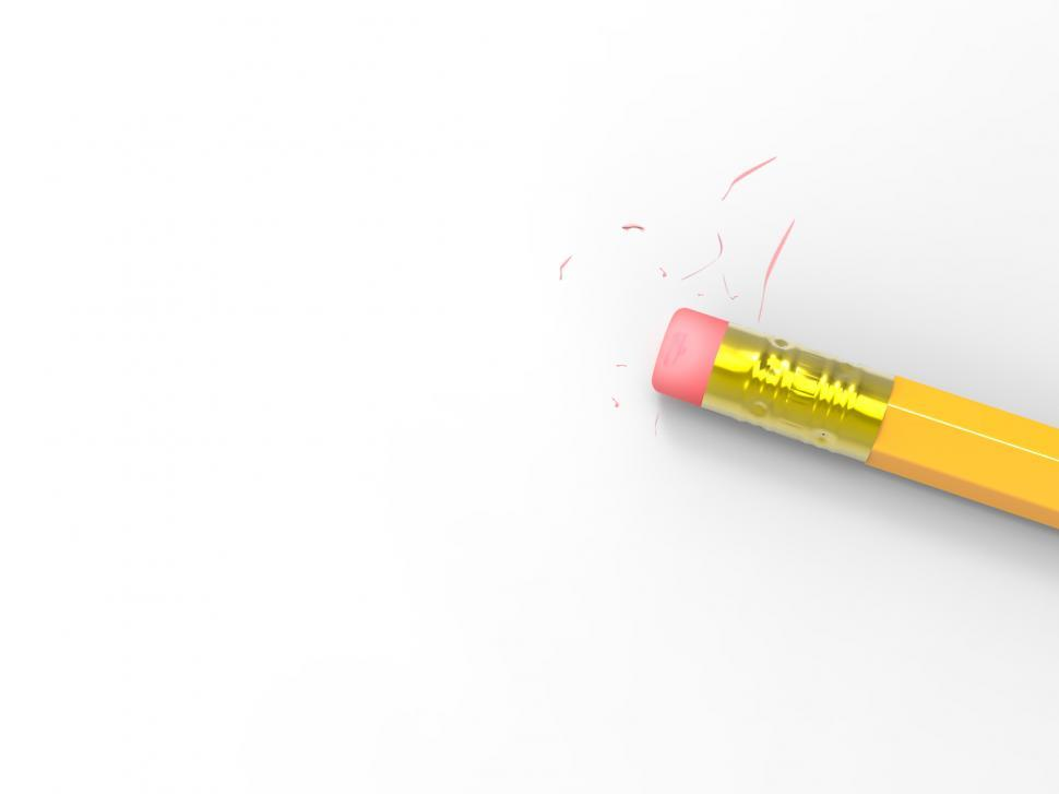 Download Free Stock HD Photo of Blank Paper With Pencil Eraser Shows Erased Text Copyspace Online