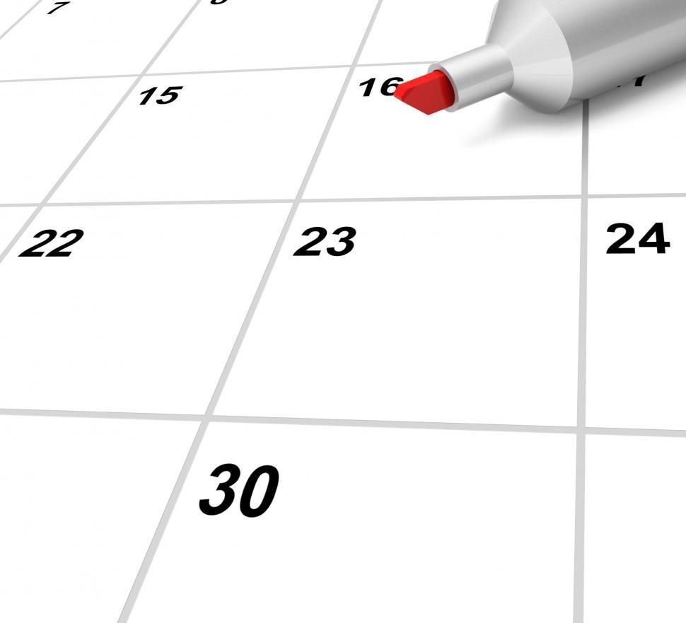 Download Free Stock HD Photo of Blank Calendar Shows Plan Appointment Schedule Or Event Online