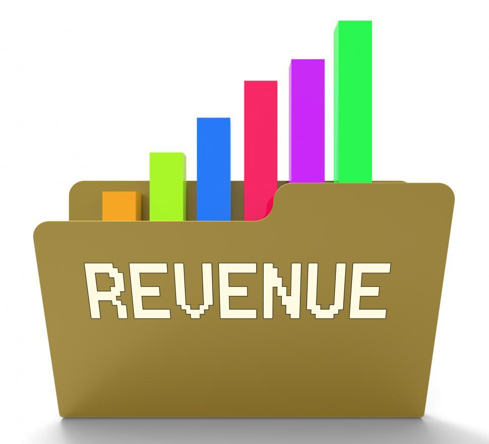 Download Free Stock HD Photo of Revenue File Indicates Business Graph And Chart 3d Rendering Online