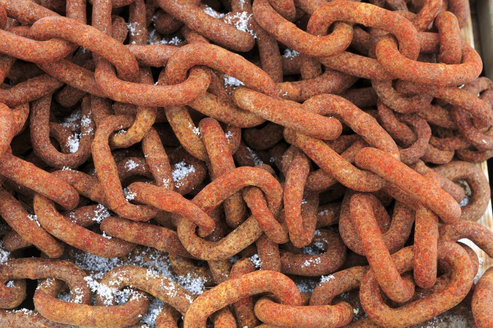 Download Free Stock Photo of Corroded chains
