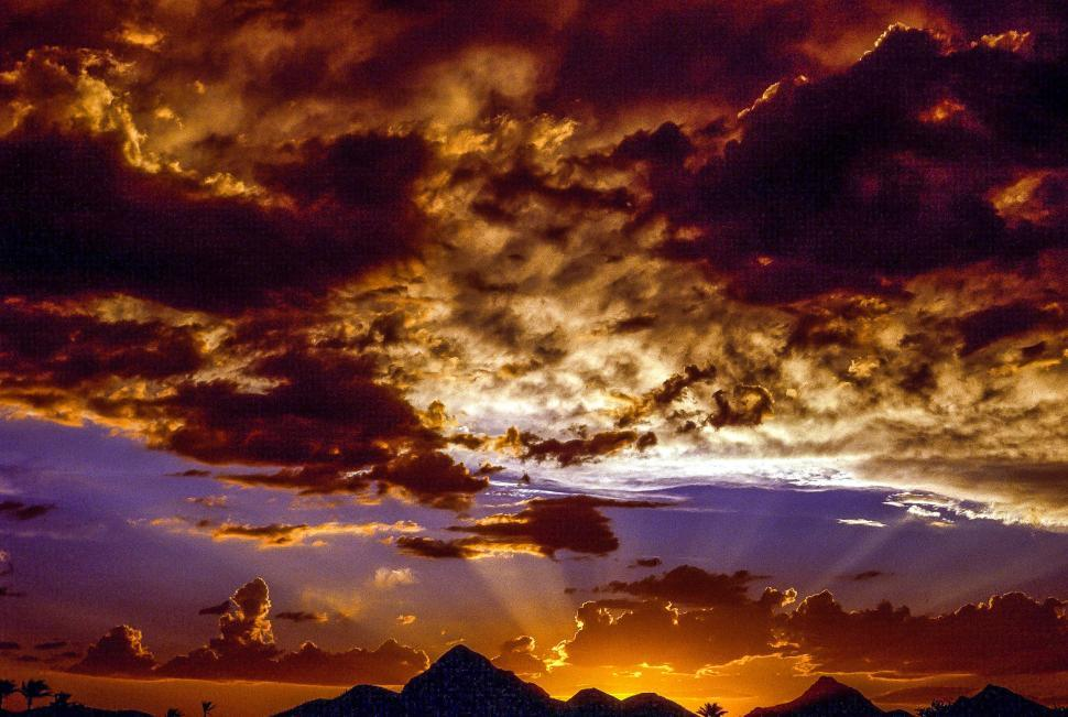 Download Free Stock Photo of Sunset in Arizona