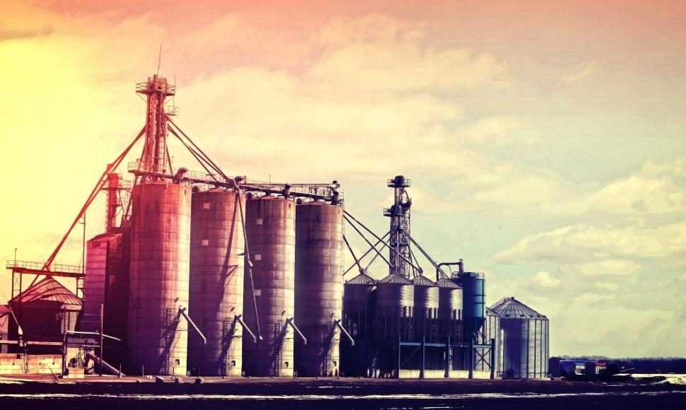 Download Free Stock Photo of Silos - Industry