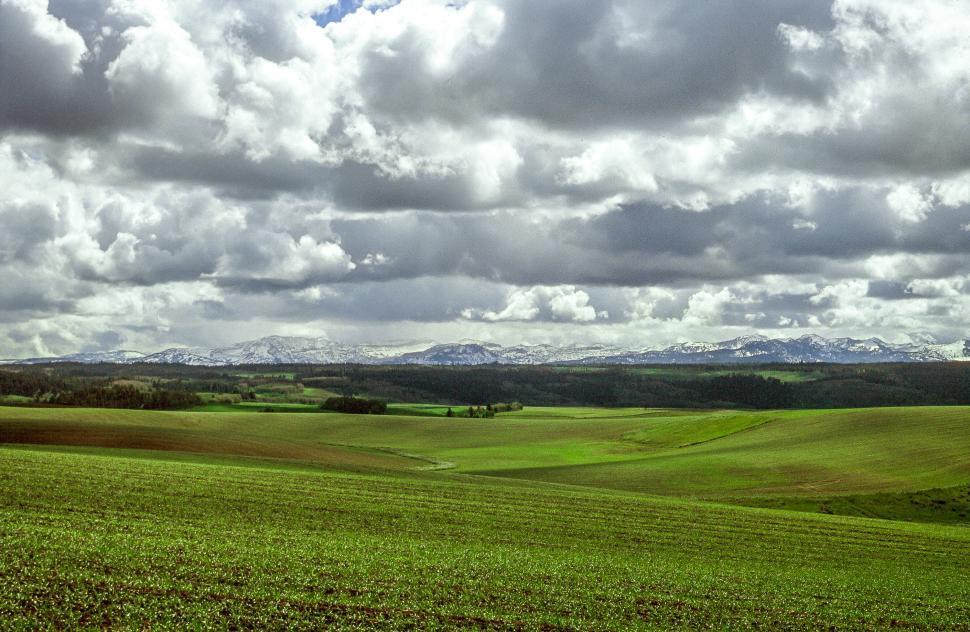 Download Free Stock Photo of Farmland in Teton Valley, Idaho