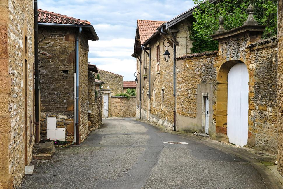 Download Free Stock HD Photo of Narrow road in France Online