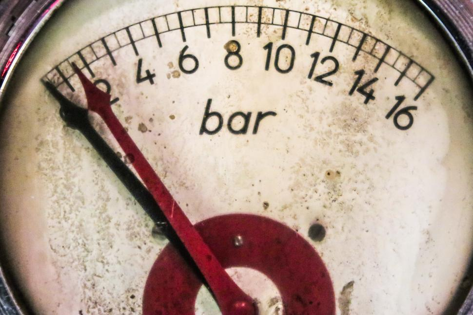 Download Free Stock HD Photo of Close up of old pressure gauge Online