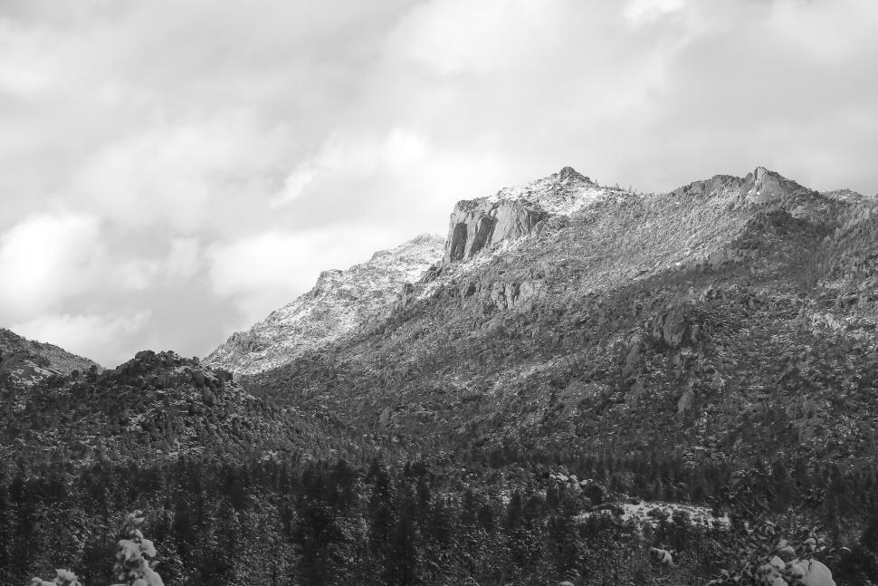 Download Free Stock HD Photo of Bland and white of Granite Mountain Online