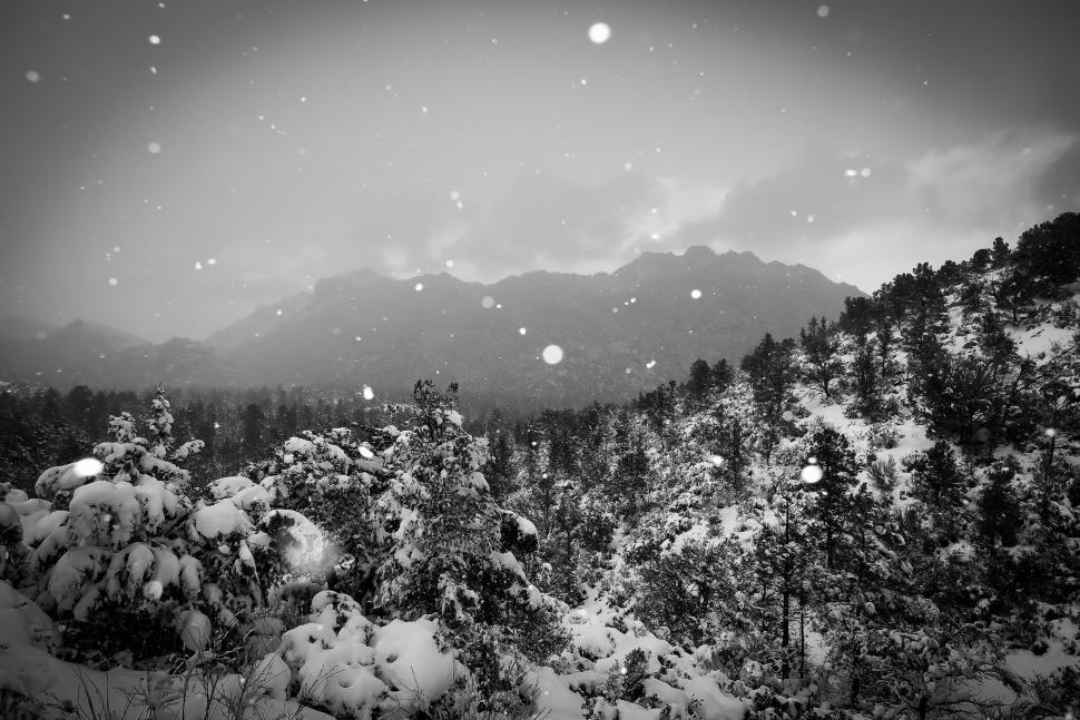 Download Free Stock HD Photo of Moody - Snow on the mountain Online
